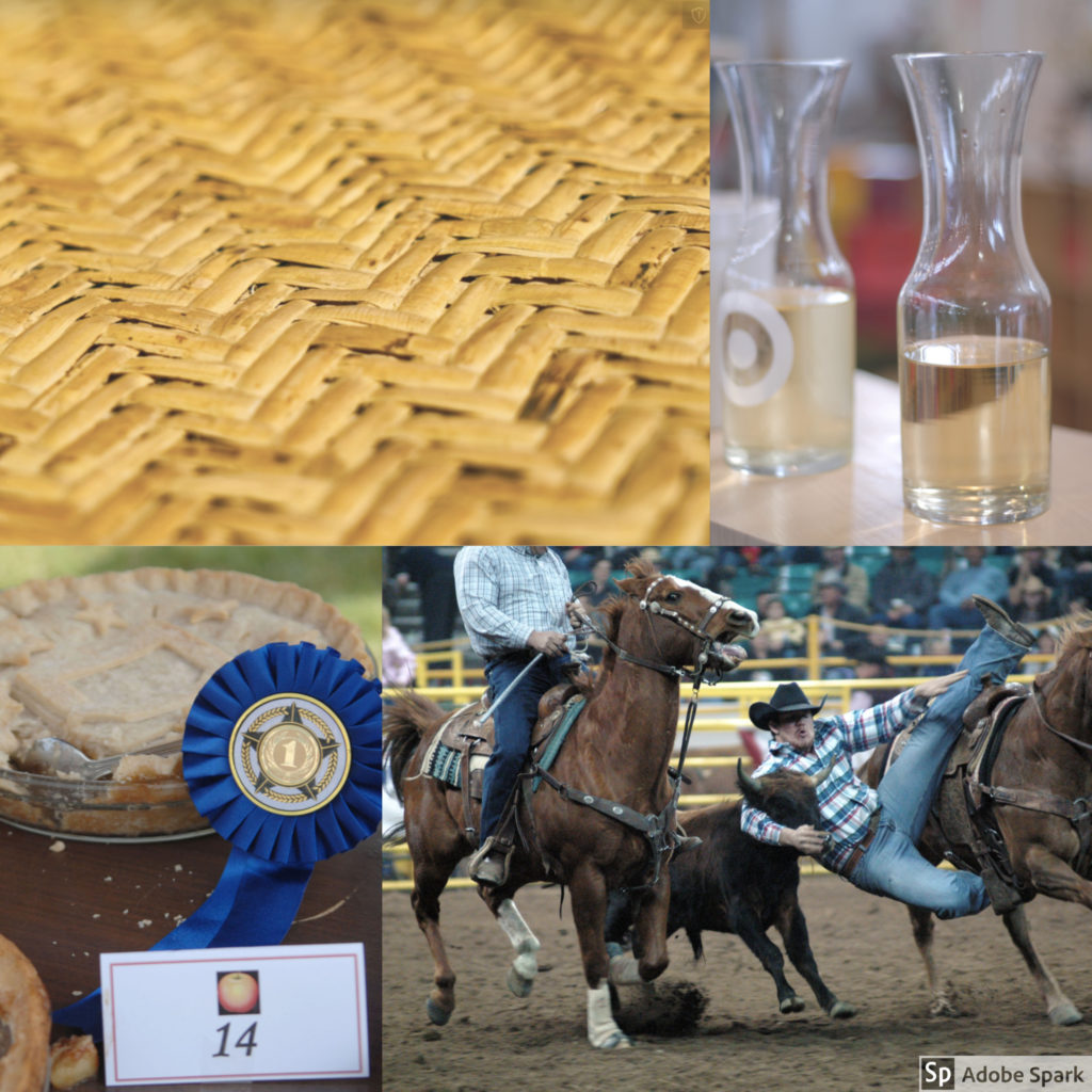 wheat weaving, wine tasting, rodeo, and pie contest