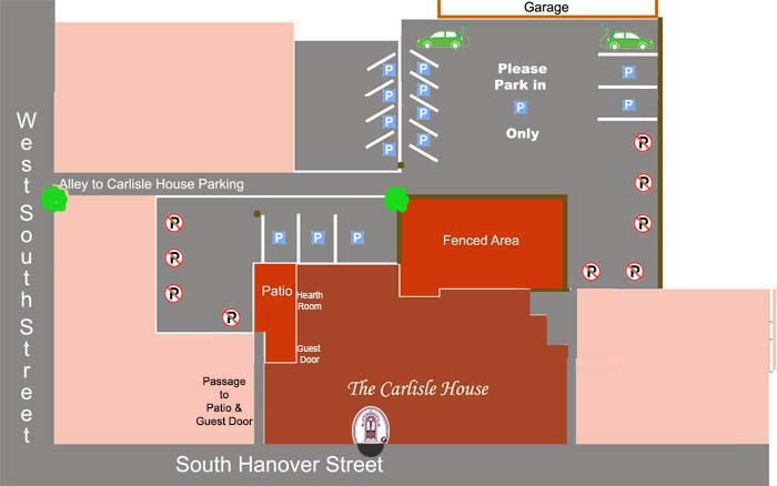 shows parking diagram